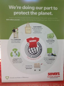 Savers Store business model and environmentally green product cycle.